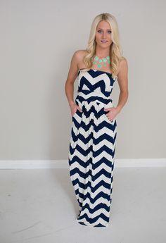 Magnolia Boutique Indianapolis - Island Getaway Chevron Dress Navy and White, $42.00 (http://www.indiefashionboutique.com/island-getaway-chevron-dress-navy-and-white/)