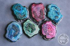 custom geode sugar cookies