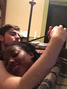When bae redoes some of your two strand twists for ya @ColorBlindLove!♡ More pictures here : http://whiteboysdatingblackgirls.tumblr.com/