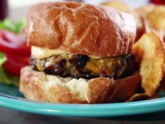 Better Butter Burger recipe from Diners, Drive-Ins and Dives via Food Network - minus the bread and with tweaks for zero carb