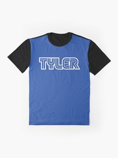 'Gamer name Tyler' Graphic T-Shirt by el-patron Gamer Names, Games To Buy, Female Models, Vivid Colors, Sleeves, Mens Tops, How To Wear, T Shirt, Supreme T Shirt