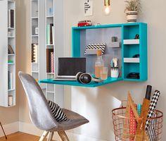 39,95 € Dieses Mini-Office zum Aufklappen ist die perfekte Alternative für alle, die bewusst auf einen Schreibtisch verzichten möchten. Das Mini-Office lässt sich leicht an der Wand befestigen. Bei Bedarf wird die Arbeitsplatte einfach aufgeklappt.
