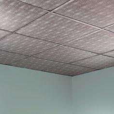 Fasade Rib Crosshatch Silver 2-foot Square Lay-in Ceiling Tile (Rib Crosshatch Silver 2 ft. x 2 ft. LI Tile)