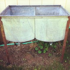 Old wash tub - great as a beverage display!