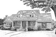 Southern Style House Plan - 3 Beds 2.5 Baths 2387 Sq/Ft Plan #310-616