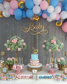gender reveal ideas for party decoration \ gender reveal ideas for party - gender reveal ideas - gender reveal - gender reveal ideas unique - gender reveal decorations - gender reveal cake - gender reveal games - gender reveal ideas for party decoration Gender Reveal Party Games, Gender Reveal Themes, Gender Reveal Party Decorations, Gender Party, Baby Shower Gender Reveal, Reveal Parties, Idee Baby Shower, Baby Girl Shower Themes, Simple Gender Reveal