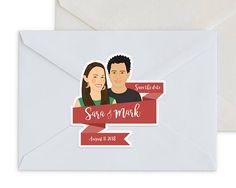 Custom Stickers / Custom Couple Portrait stickers #weddings #invitation @EtsyMktgTool http://etsy.me/2y9USDc #savethedatelabel