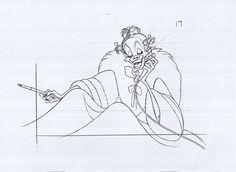 101 Dalmatians - Marc Davis Animation Sketches, Cartoon Sketches, Disney Sketches, Disney Drawings, Drawing Disney, Art Drawings, Studio Ghibli, Dreamworks, Disney Magical World