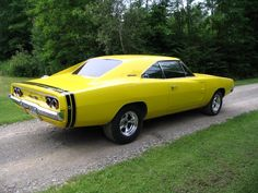 Yellow 1968 Pro Touring Dodge Charger