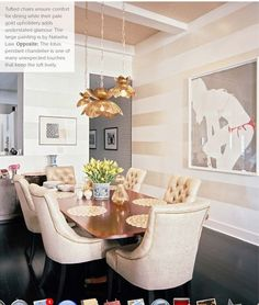 Metallic Gold Striped Wall..... Wondering if metallic silver would be too much in my living room