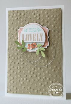 Janneke, Stampin' Up! Demonstrator : I think you're lovely