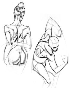 A couple of my quick sketches from the upper back assignment. Which assignment from the anatomy course has been your favorite so far? Male Figure Drawing, Figure Sketching, Figure Drawing Reference, Anatomy Reference, Anatomy Sketches, Drawing Sketches, Art Drawings, Human Anatomy Drawing, Gesture Drawing