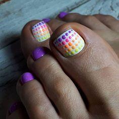Toenail Art Designs, Pedicure Designs, Pedicure Nail Art, Toe Nail Color, Toe Nail Art, Nail Colors, Pretty Toe Nails, Cute Toe Nails, Summer Gel Nails