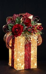 gift wrapping - or also pretty topper for large ornament or ball.