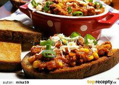 Bruschetta, Baked Potato, Chili, Food And Drink, Soup, Potatoes, Treats, Baking, Ethnic Recipes