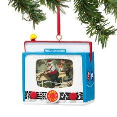 Dept 56 Christmas Fisher Price Peek A Boo TV Screen Ornament 4037447 New 2014