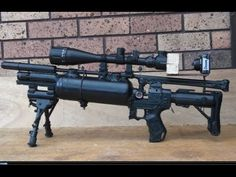 HOMEMADE Pre Charged Sniper Rifle Airsoft Gun 500 fps Best on Youtube Survival Equipment, Survival Gear, Air Cannon, Rifles, Paintball Mask, Homemade Weapons, Air Rifle, Airsoft Guns, Crossbow