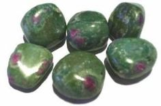 Ruby in zoisite is the stone that will awaken your senses so you can have a full life; in other words, You can have it all. It can alter the state of consciousness and give you access to soul memory. It is very helpful in past life work. It can open a passage to connect to all of humanity. Ruby in zoisite is red mixed with blue-brown-green