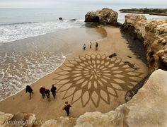 Amazing Beach Art by Andres Amador - California Beaches