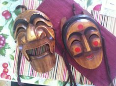 HaHoetal Korean Traditional Hand Carved Wooden Masks