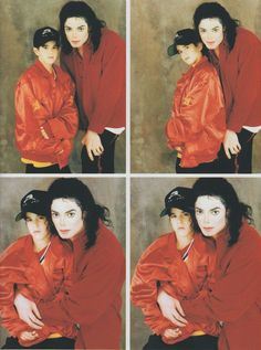 Michael Jackson Exclusive Very Rare 4 in 1 Foto/Photo CASCIO FAMILY