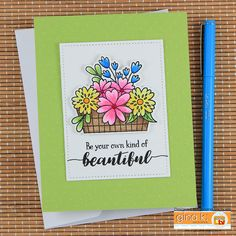 Be Your Own Kind of Beautiful Card by Juliana Michaels featuring the Your Own Kind of Beautiful Stamp Set from the Gina K Designs Sentimental Summer Stamp TV Kit