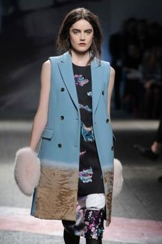 #MFW #AW14 Trend Alert - Fabric morphing has been seen in various innovative #degrade effects including cashmere diffusing into astrakhan or fur textures melting seamlessly into another