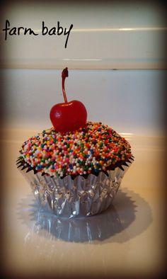 Red Velvet Birthday Cupcake