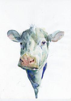 "Saatchi Art Artist Benjamin Björklund; Painting, ""Cow"" #art"