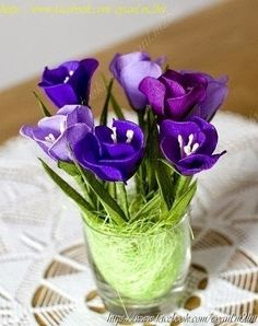 Minh Handmade: Tulip paper flower tutorial