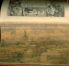 Fore-edge painting of the Stratford on Avon