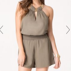 Bebe romper Bought it online and they were too big for me. Can't wear them. Still have tags on it. bebe Other