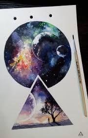Картинки по запросу рисунки в стиле графика космос