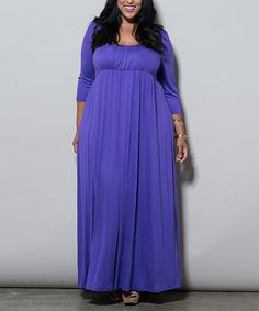 Look what I found on #zulily! Purple Lois Maxi Dress - Plus by Sealed With a Kiss Designs #zulilyfinds