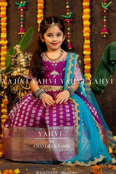 Crochet lace dress pattern outfit ideas for 2019 Kids Party Wear Dresses, Kids Dress Wear, Kids Gown, Dresses Kids Girl, Kids Indian Wear, Kids Ethnic Wear, Lace Dress Pattern, Kids Lehenga Choli, Kids Blouse Designs
