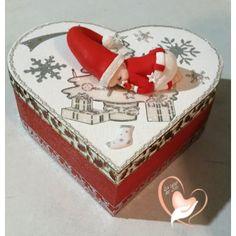 42-Boîte de naissance de noël bébé garçon rouge et blanche - au coeur des arts