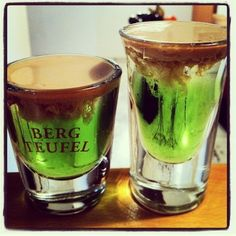 Ghost Buster Shots =============== Peach Schnapps Midori Baileys  Thanks to @raz_zolotov for the pic. Got a cool pic and recipe hashtag it #...