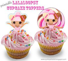 Quirky Artist Loft: Free Lalaloopsy Cupcake Toppers
