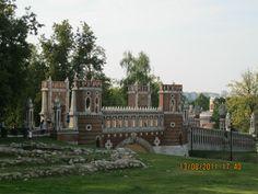 Фигурный мост, Царицыно, построен в 1776—1778 годах по проекту Баженова.