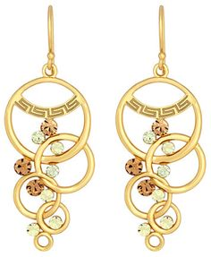 SIS by Simone I Smith 18k Gold over Sterling Silver, Multi-Circle and Crystal Dangle Earrings | macys.com