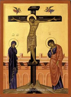 orthodox crucifixion icon images | crucifixion icon