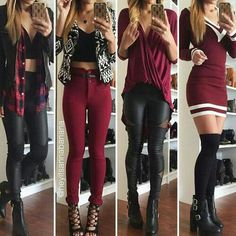 All these outfits are such fun ways to incorporate red in your outfits!