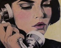"""Saatchi Art Artist Cindy Press; Painting, """"Tune Out"""" #art"""