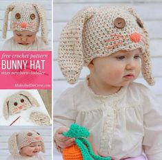 Crochet Easter Bunny Hat Free Pattern
