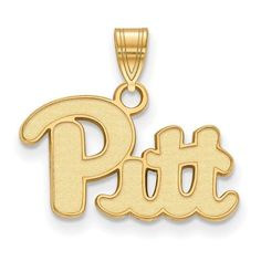 Sterling Silver w/GP LogoArt University of Pittsburgh Small Pendant