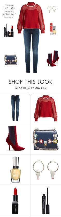"""""""Unbroken"""" by sereneowl ❤ liked on Polyvore featuring Smashbox, Frame, Fendi, Coral Dream and Sally Hansen"""
