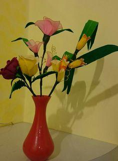 Crepe paper and nylon    flower