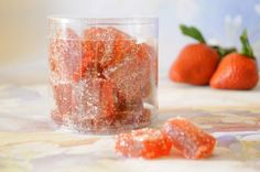 Strawberry Pate De Fruit - French Parisian Fruit Jelly Candy - 8oz by Zam Artisan Chocolates & Confections on Gourmly