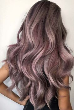 Steel orchid by guy tang lilac grey hair, purple hair, ombre hair color, gu Lilac Grey Hair, Grey Ombre Hair, Violet Hair, Lavender Hair, Pink Hair, Pastel Ombre, Ombre Colour, Ash Purple Hair, Metallic Hair Color