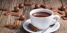 chocolat-chaud-cannelle Healthy Smoothies, Tea Cups, Brunch, Milk, Chocolate, Tableware, Health And Wellness, Easy Trifle Recipe, Diy Home
